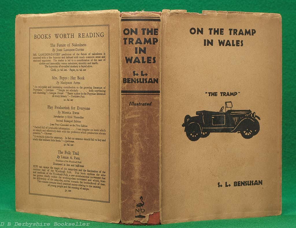 On the Tramp in Wales | S. L. Bensusan | Noel Douglas, 1st edition 1929 | with dustwrapper