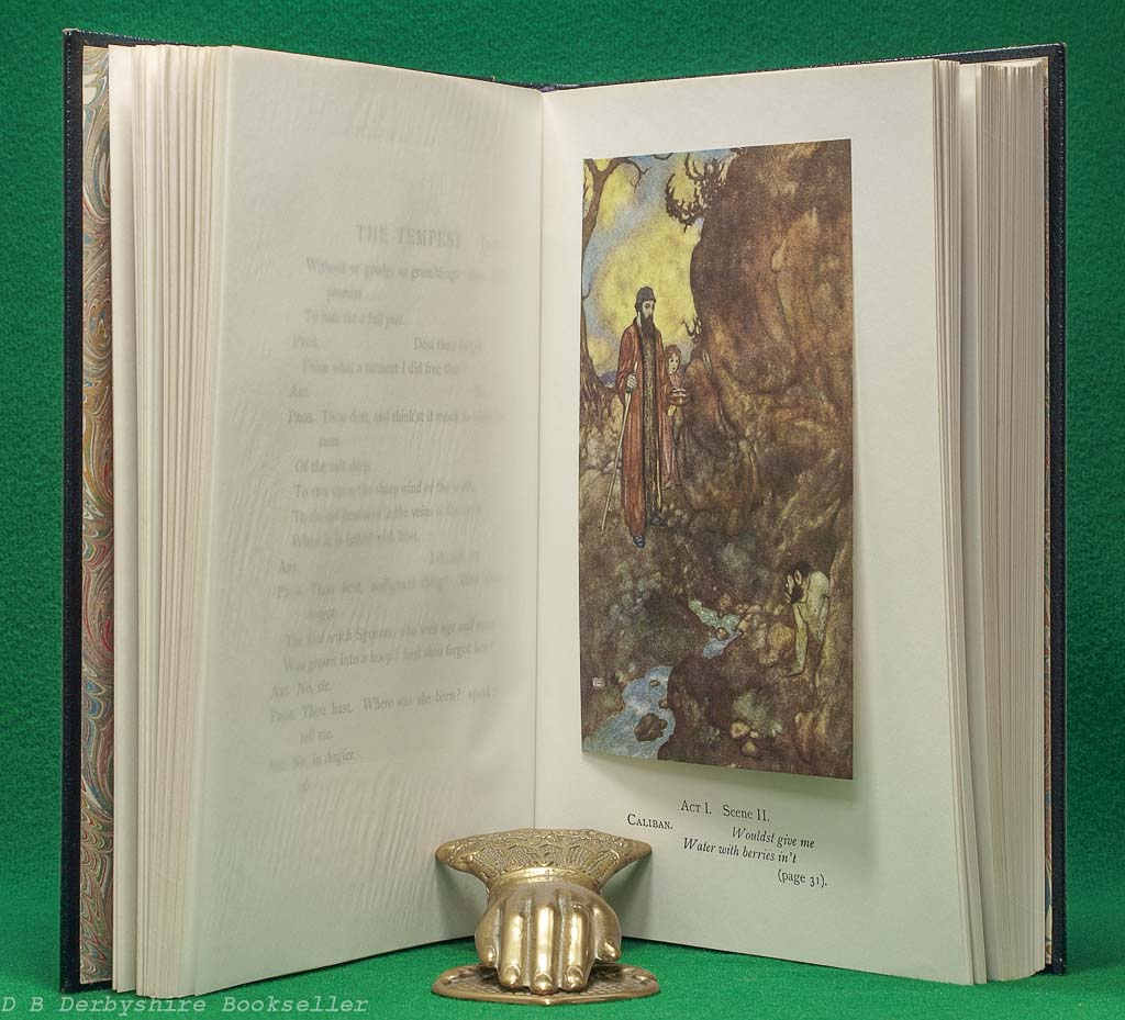 Shakespeare's Comedy of The Tempest   illustrations by Edmund Dulac  Hodder & Stoughton, 1982   Limited Edition   Leather