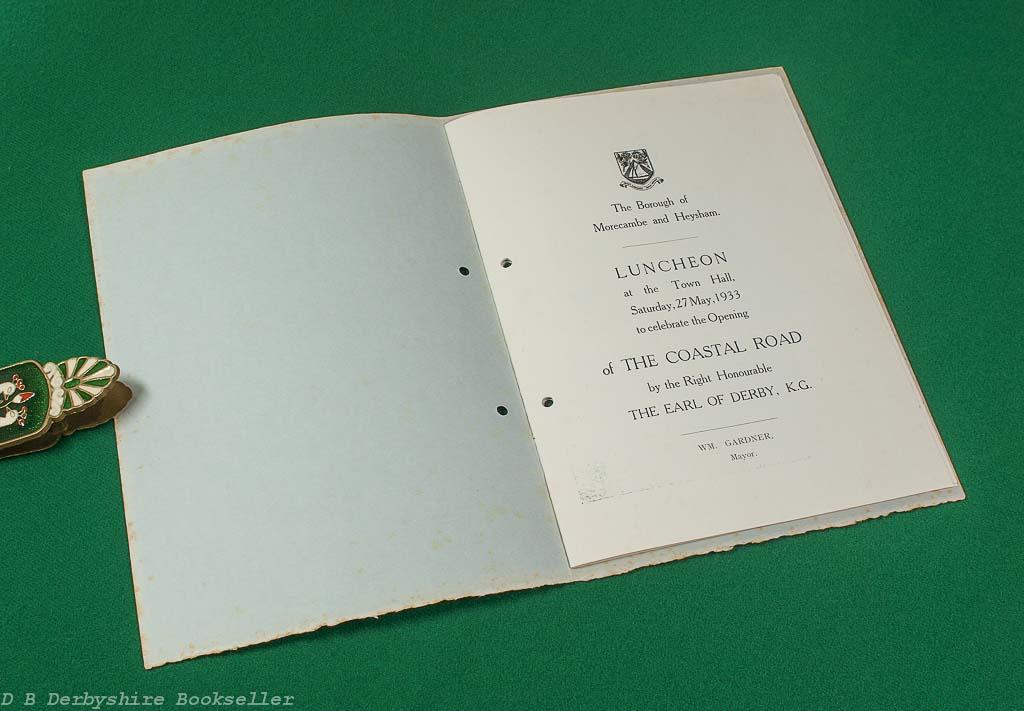 Opening of the Coastal Road | Borough of Morecambe and Heysham | Saturday 27th May 1933 | Celebratory Brochure