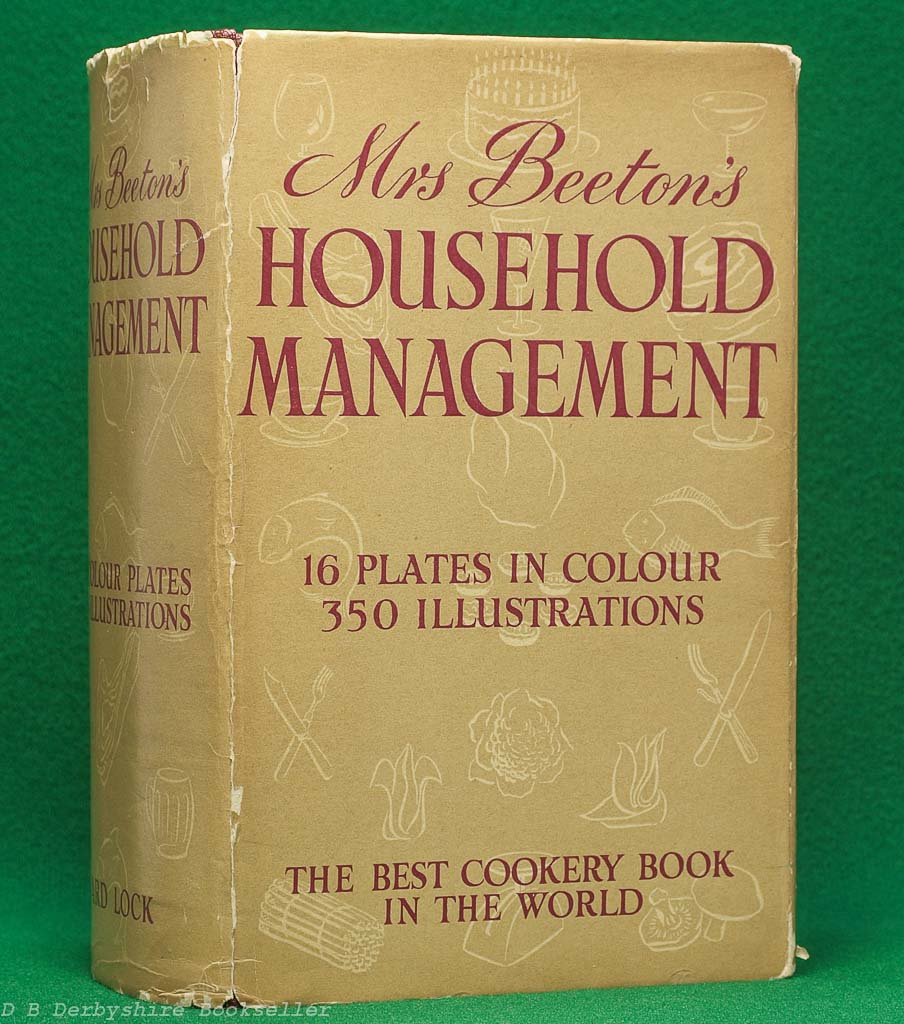 Mrs Beeton's Household Management (Ward, Lock & Co. Limited, circa 1950) | with dustwrapper