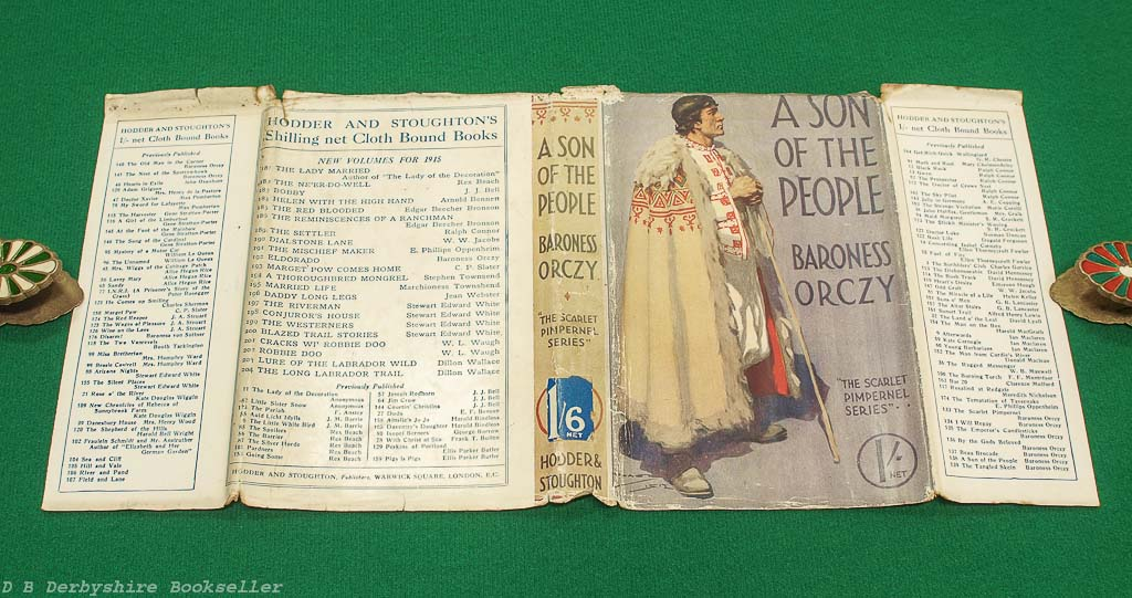 A Son of the People   Baroness Orczy   Hodder and Stoughton, circa 1916   Scarlet Pimpernel   with dustwrapper