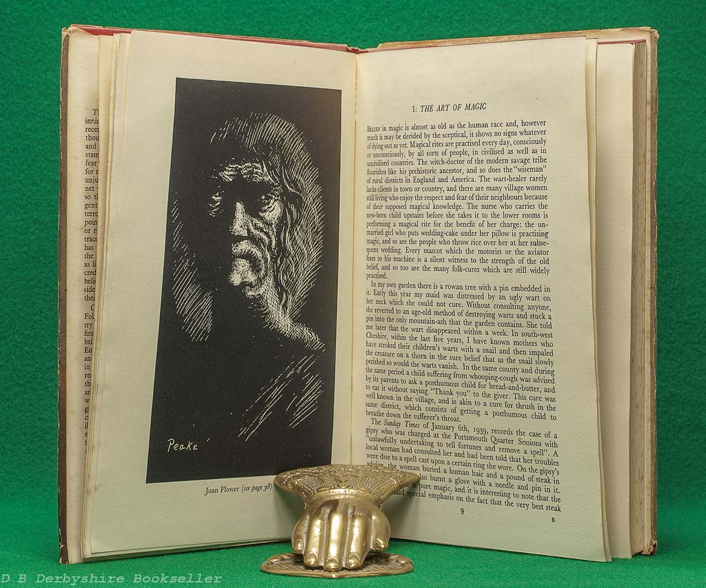 Witchcraft in England | Christina Hole | B. T. Batsford, 1st edition 1945 | illustrated by Mervyn Peake