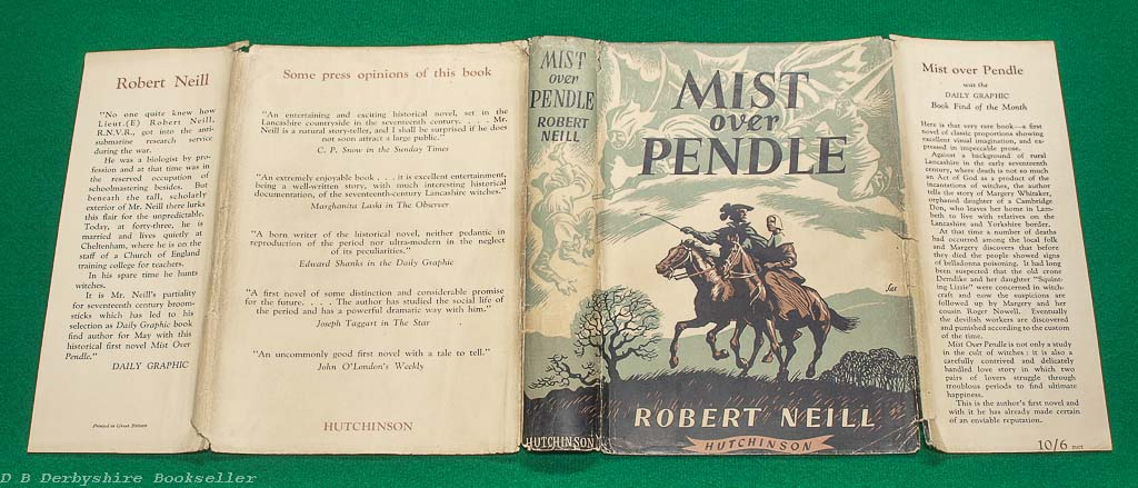 Mist Over Pendle | Robert Neill Hutchinson, reprint 1953 | with dustwrapper by Sax