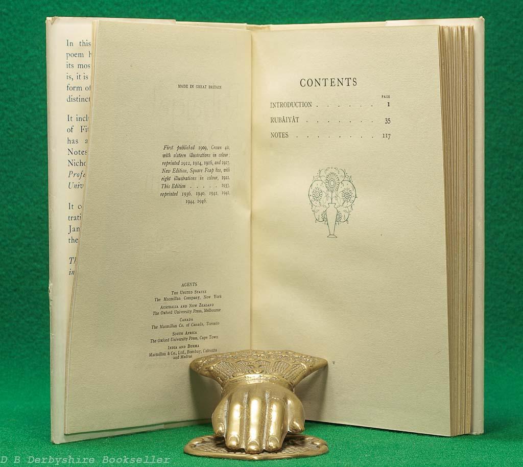 Rubaiyat of Omar Khayyam   A. & C. Black, reprint 1946   illustrated by Gilbert James