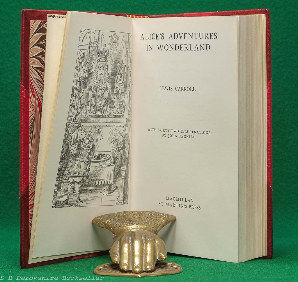 Alice's Adventures in Wonderland and Through the Looking-Glass by Lewis Carroll | Macmillan, 1975 and 1976 | Sotheran Half-Leather Binding