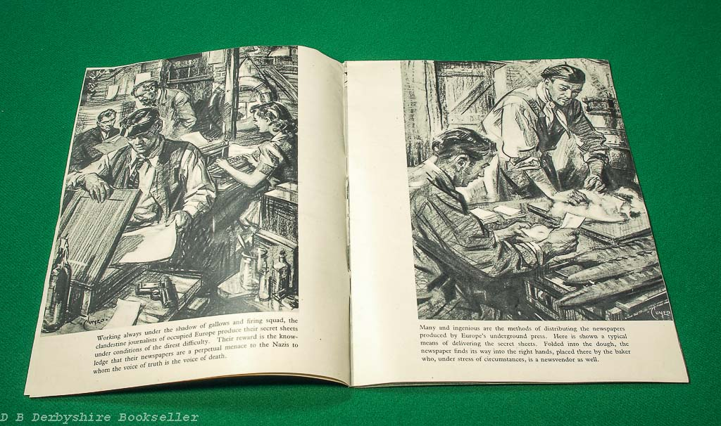 Underground War in the West | [Ministry of Information], circa 1943 | illustrated by Terence Cuneo