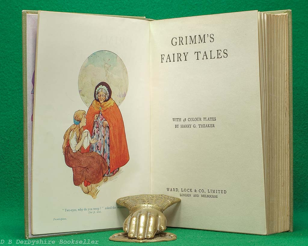 Grimm's Fairy Tales | Ward, Lock & Co. Limited, reprint circa 1930s | illustrated by Harry G. Theaker