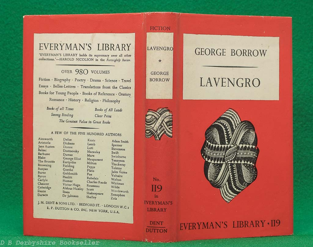 Lavengro   George Borrow   J. M. Dent, 1944   Everyman's Library 119