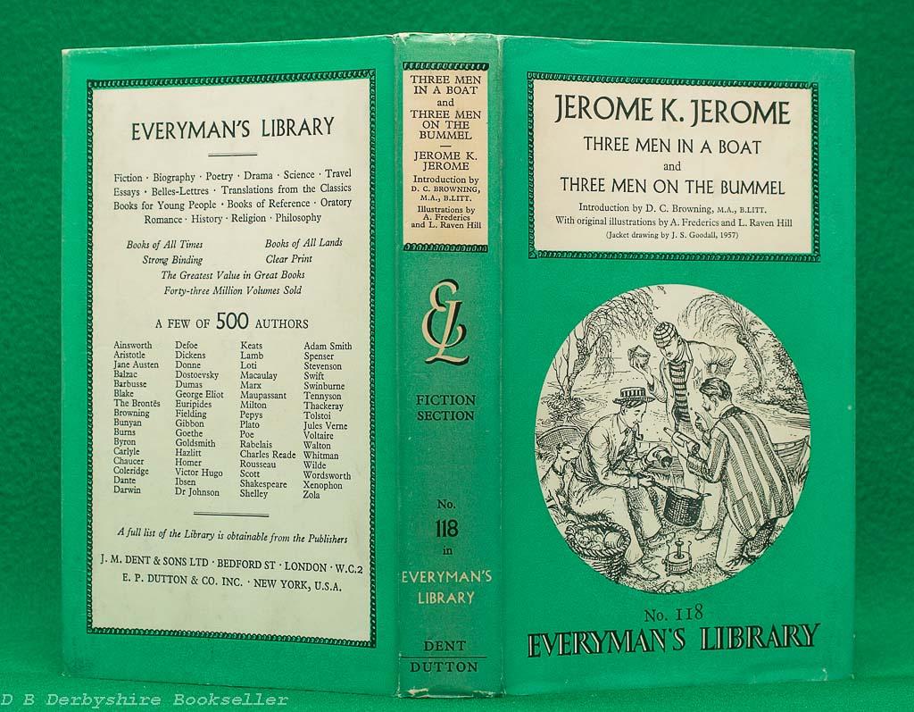 Three Men in a Boat   Three Men on the Bummel   Jerome K. Jerome   J. M. Dent, 1957   Everyman's Library