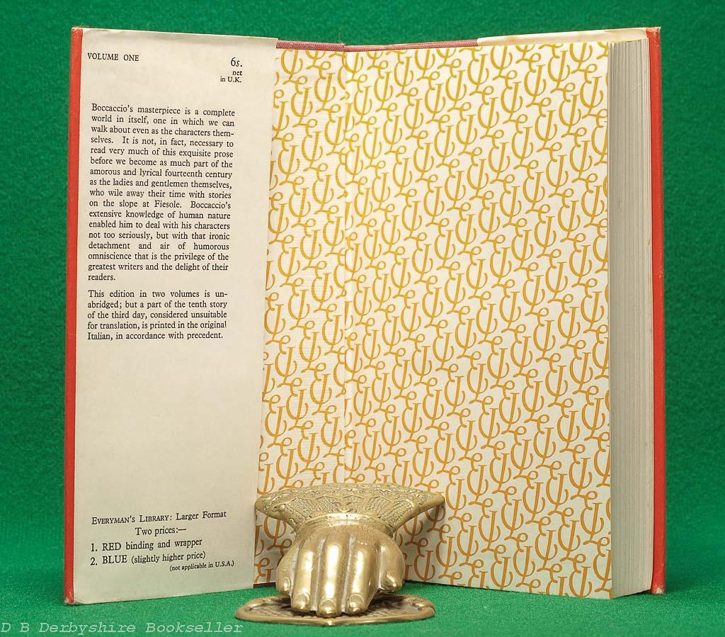 The Decameron | Giovanni Boccaccio | J. M. Dent, 1953 | Everyman's Library | Two Volumes