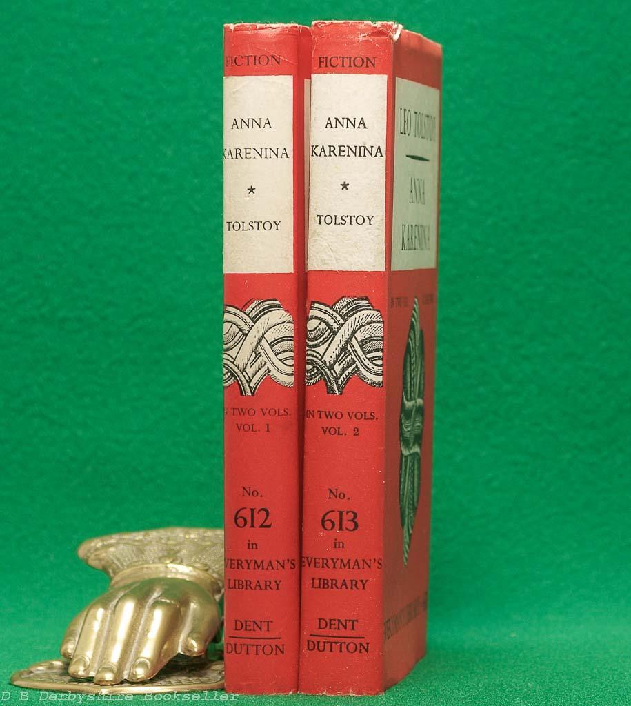Anna Karenina by Leo Tolstoy (J. M. Dent, 1952 & 1949) | Everyman's Library