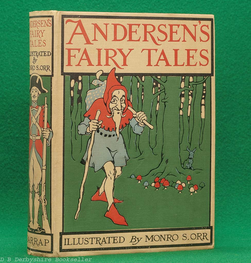 Andersen's Fairy Tales (Harrap, reprint 1928)   illustrated by Monro S. Orr   with dustwrapper