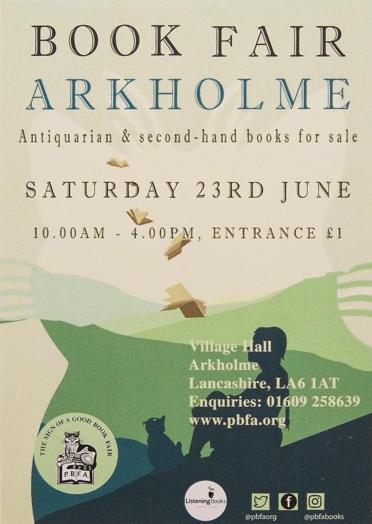 Arkholme Book Fair | 23 June 2018 | Poster