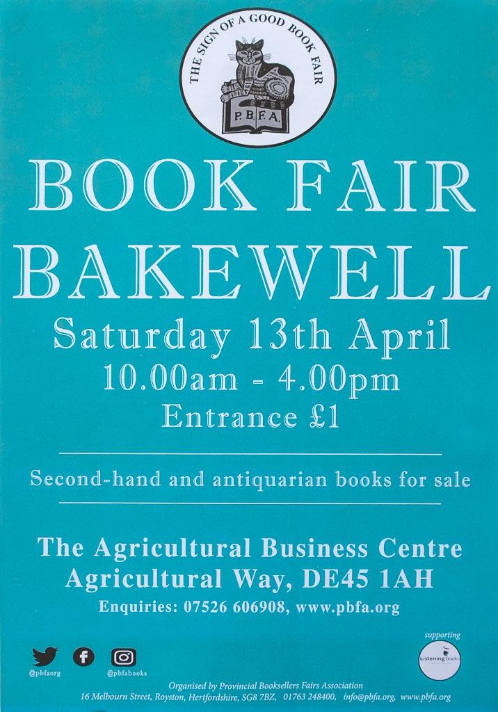 Bakewell Book Fair | 13 April 2019 | Poster
