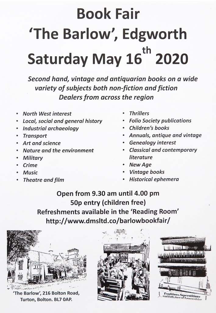 Barlow Book Fair | 16th May 2020