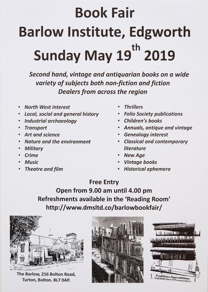 Barlow Book Fair | 19 May 2019 | Poster | Edgeworth