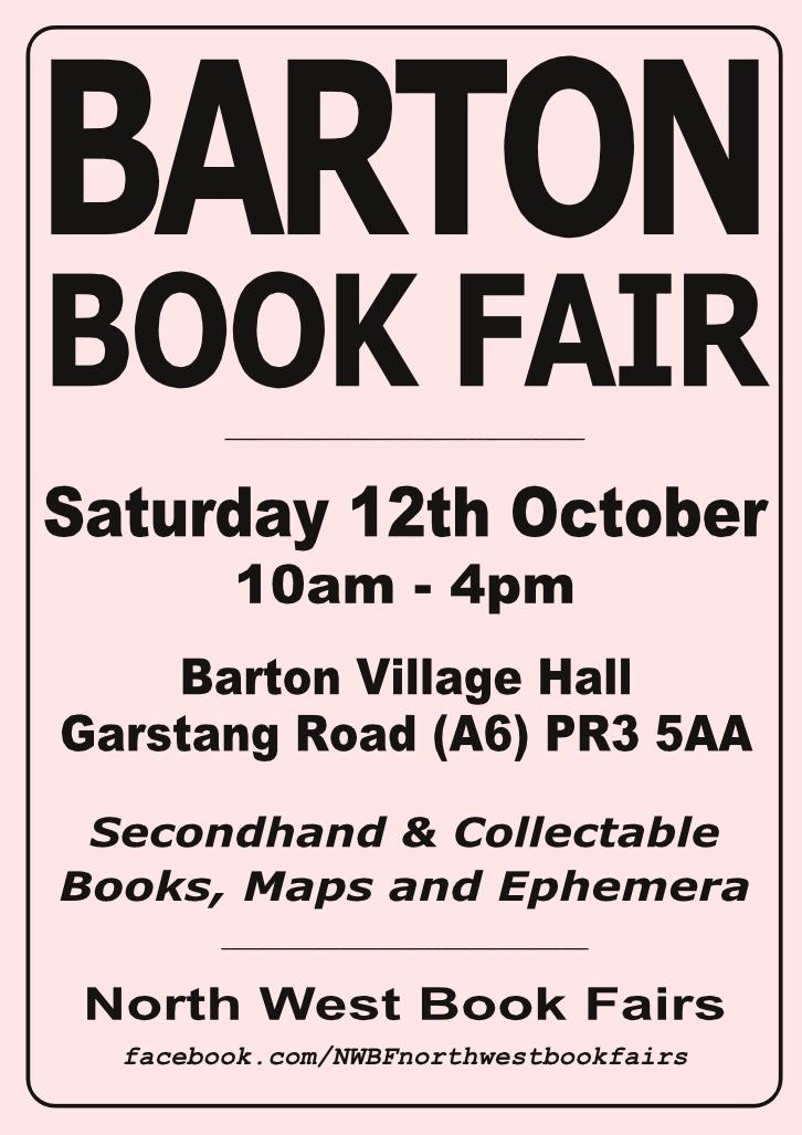 Barton Book Fair | 12 October 2019 | Poster