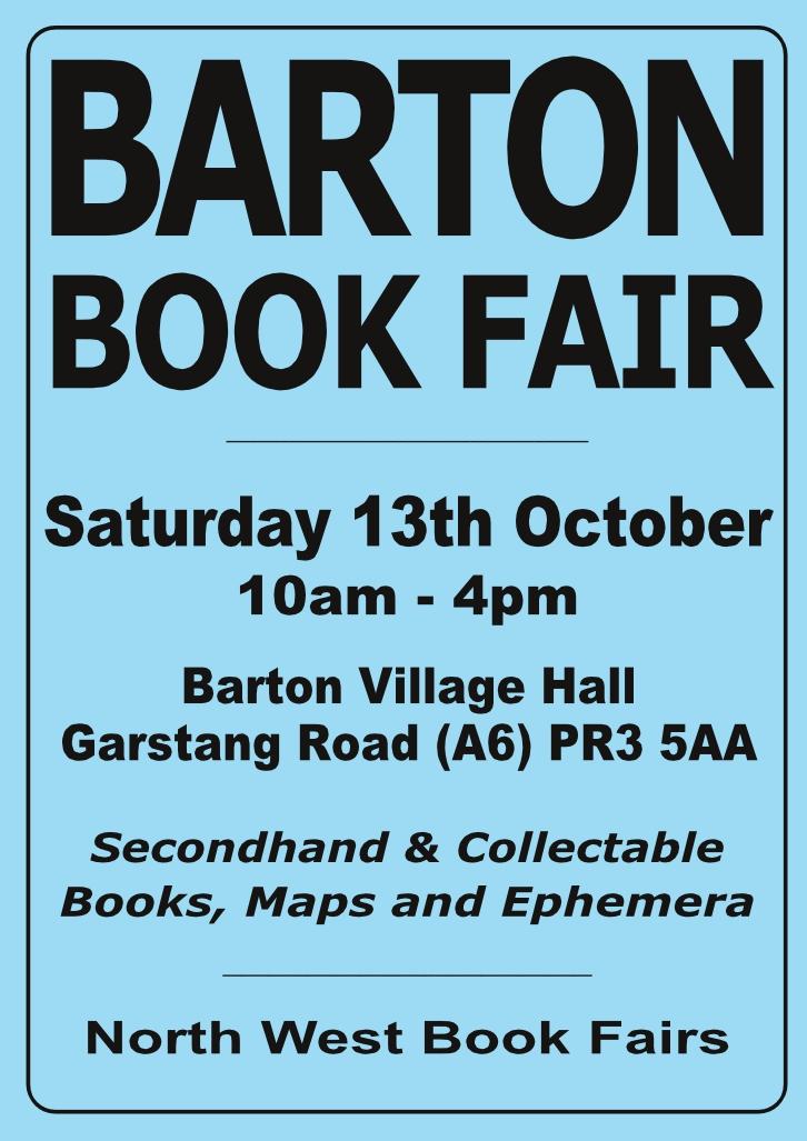 Barton Book Fair | 13 October 2018 | Poster