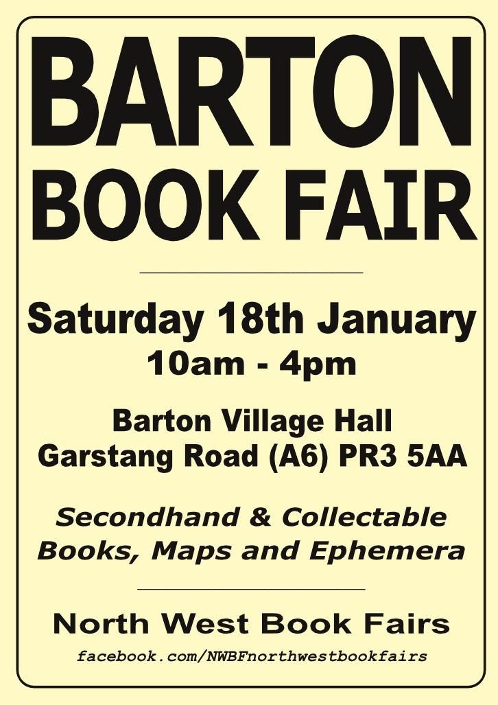 Barton Book Fair | 18 January 2020 | Poster