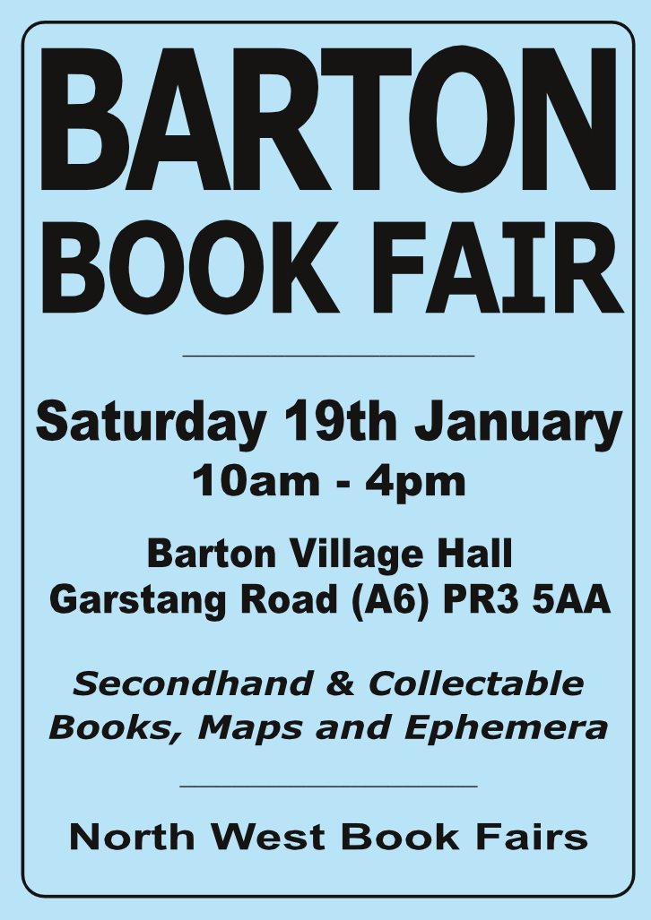 Barton Book Fair   19 January 2019   Poster