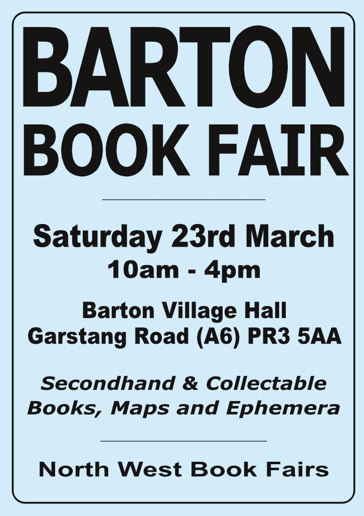 Barton Book Fair | 23 Mar ch 2019 | Poster