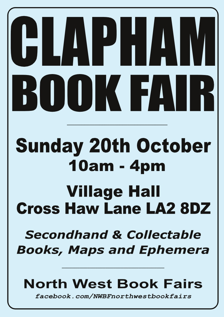 Clapham Book Fair | 20 October 2019 | Poster