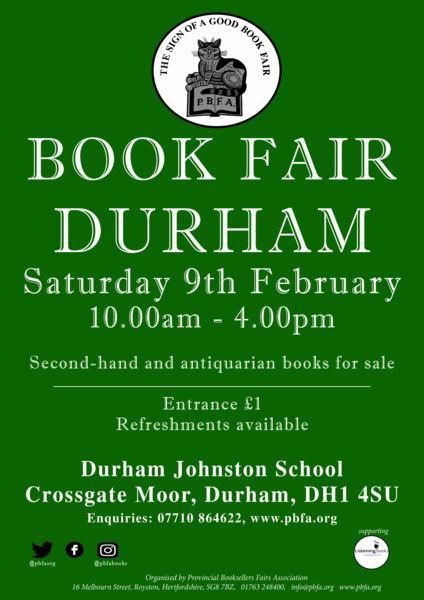 Durham Book Fair | 9 February 2019 | Poster