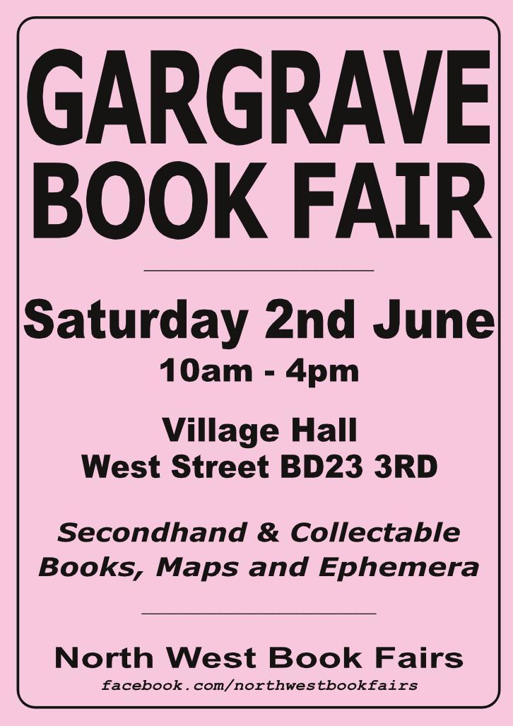 Gargrave Book Fair | 2 June 2018 | Poster