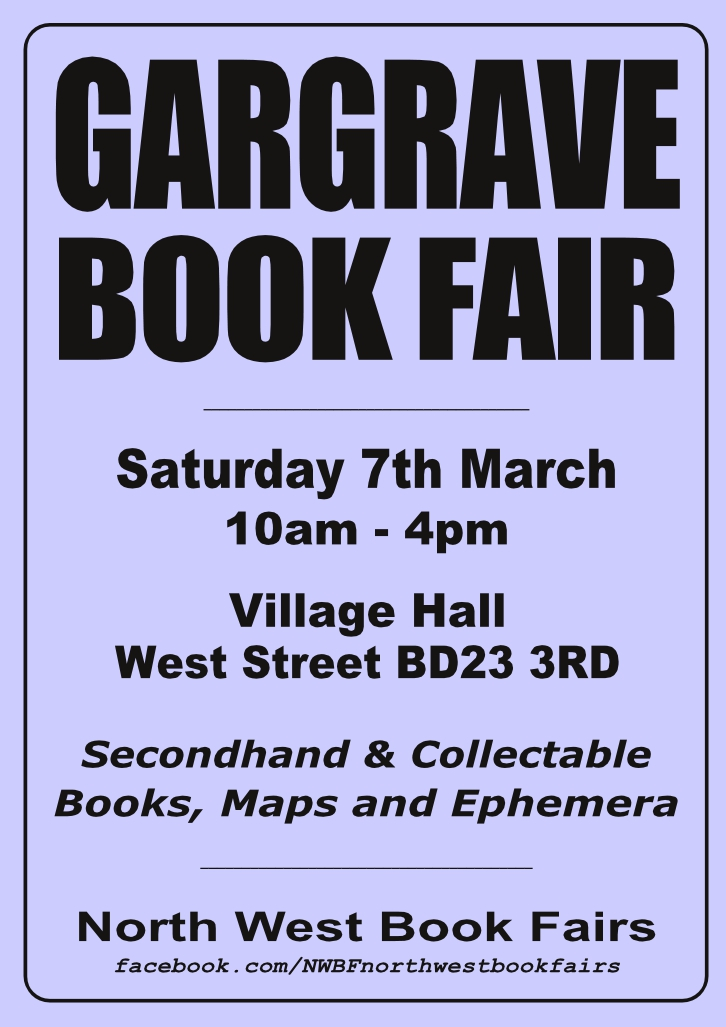 Gargrave Book Fair | 7 March 2020 | Poster