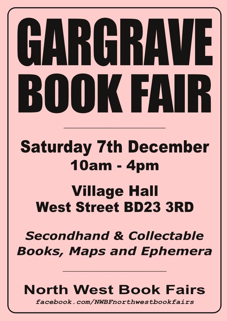 Gargrave Book Fair   7 December 2019   Poster