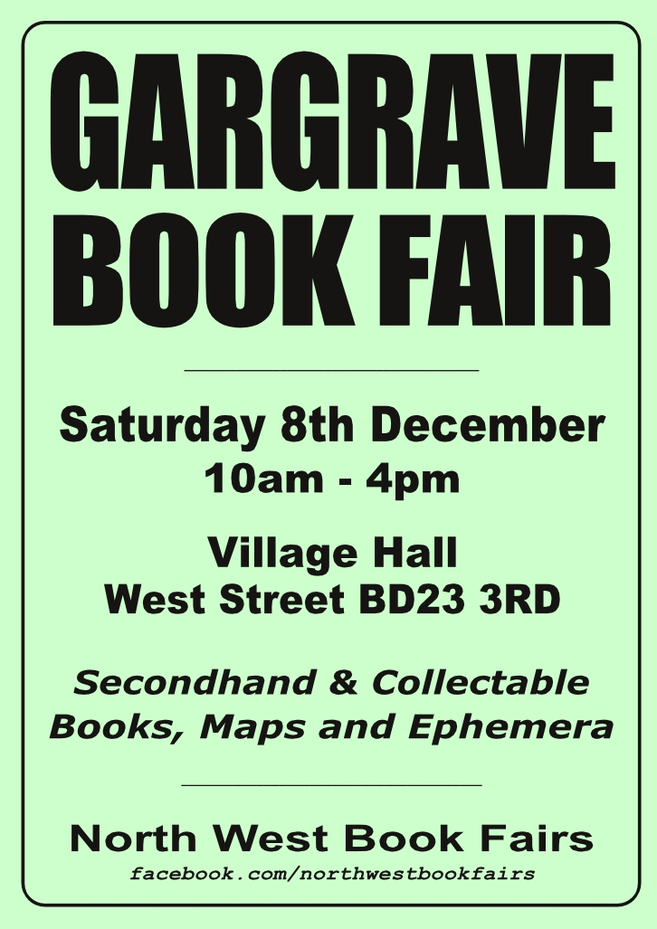 Gargrave Book Fair | 8 December 2018 | Poster
