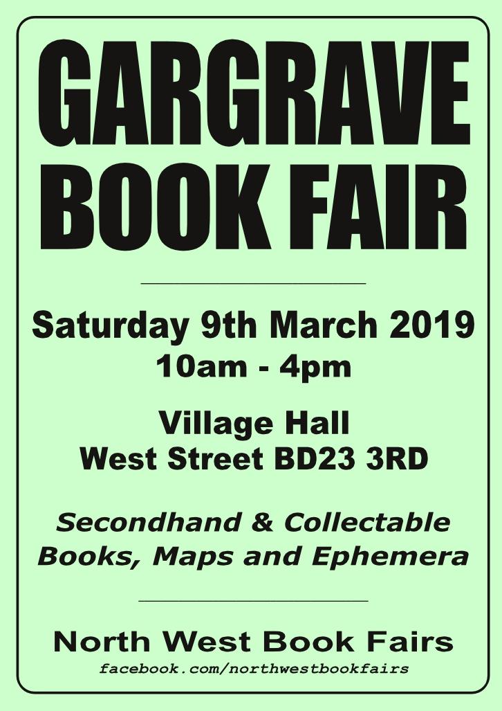 Gargrave Book Fair | 9 March 2019 | Poster