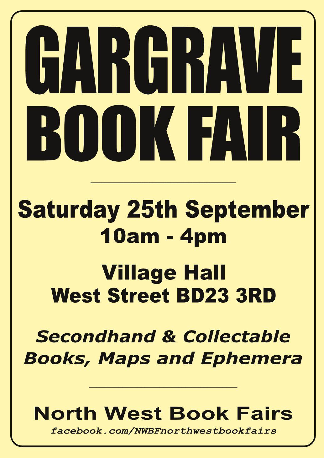 Gargrave Book Fair | 25 September 2021 | Poster