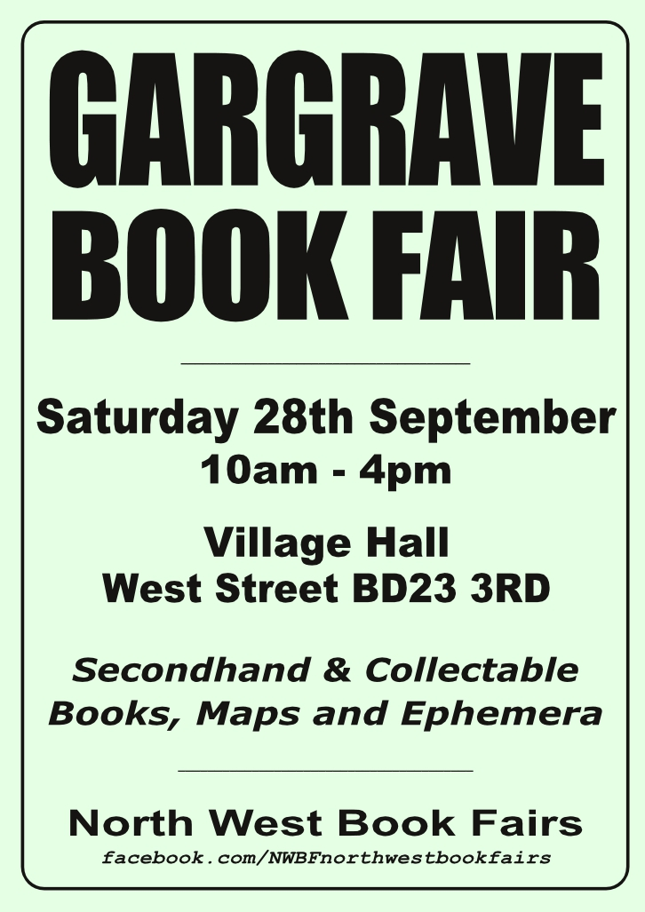 Gargrave Book Fair | 28 September 2019 | Poster