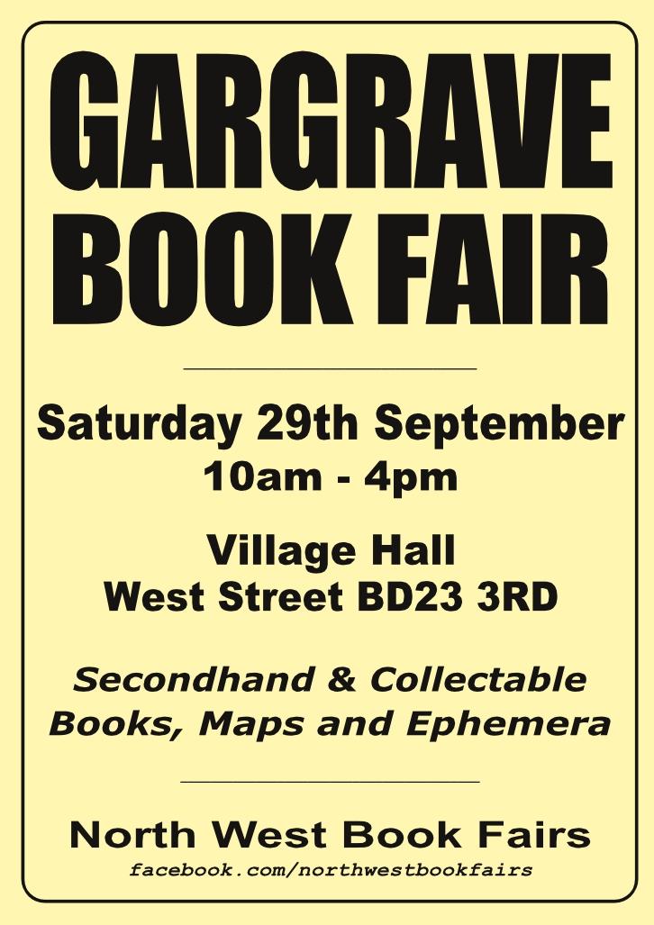 Gargrave Book Fair | 29 September 2018 | Poster