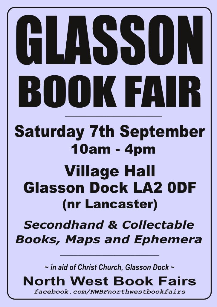 Glasson Dock Book Fair   7 September 2019   Poster