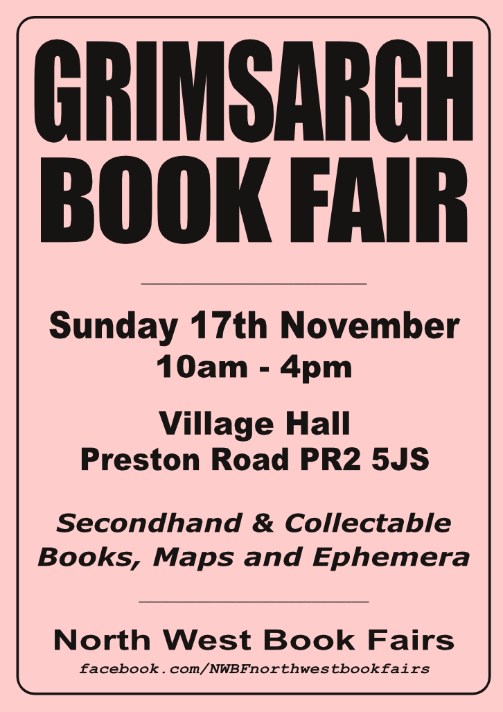 Grimsargh Book Fair | 17 November 2019 | Poster