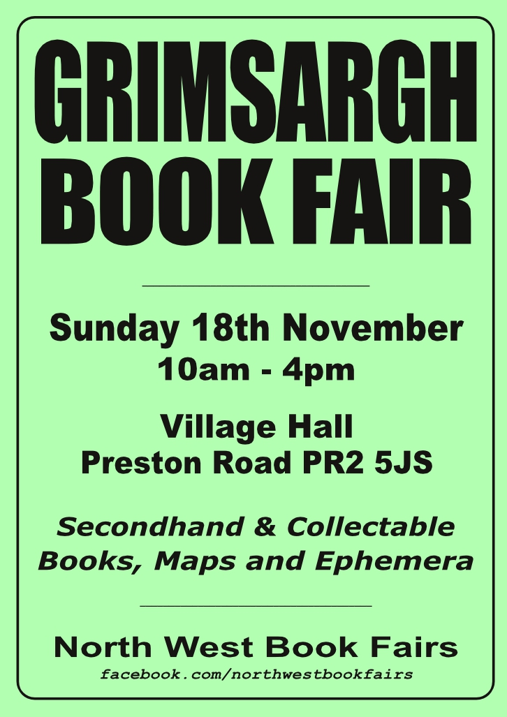 Grimsargh Book Fair | 18 November 2018 | Poster