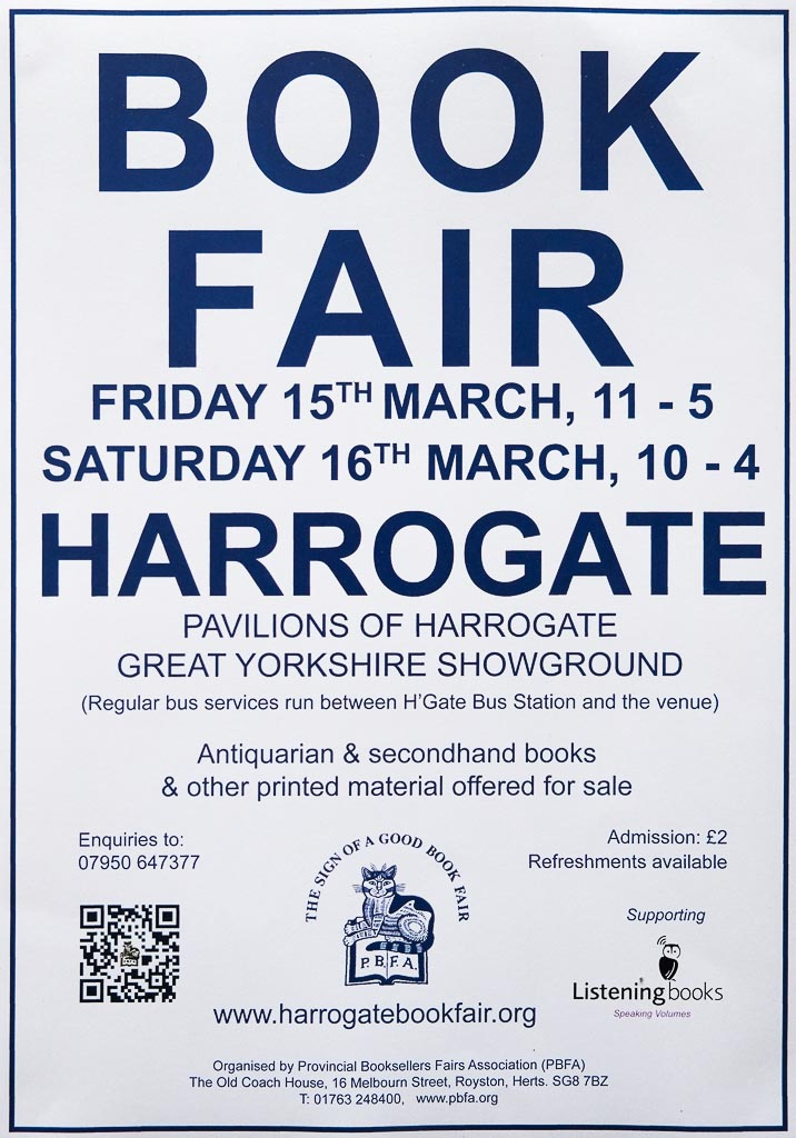 Harrogate Book Fair | 15 & 16 March 2019 | Poster