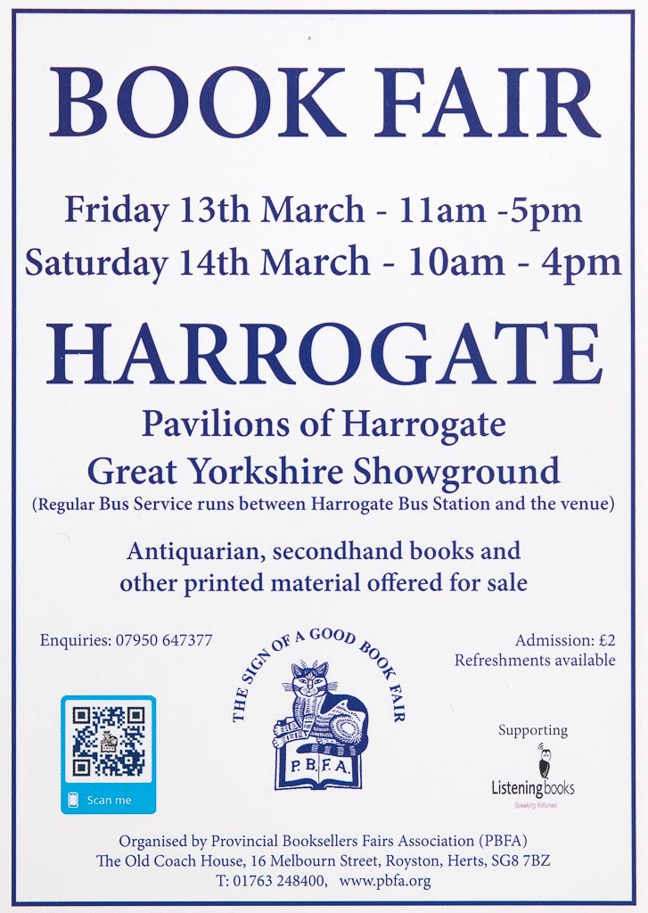Harrogate Book Fair 13th/14th March 2020 | Poster