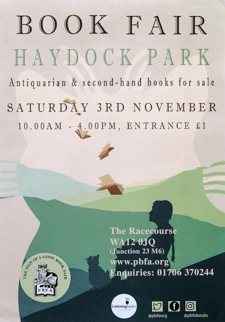 Haydock Book Fair | 3 November 2018 | Poster