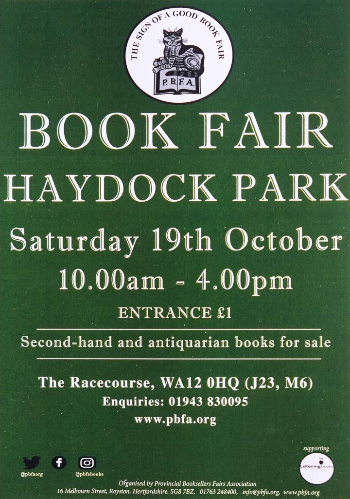 Haydock Book Fair | 19 October | Poster