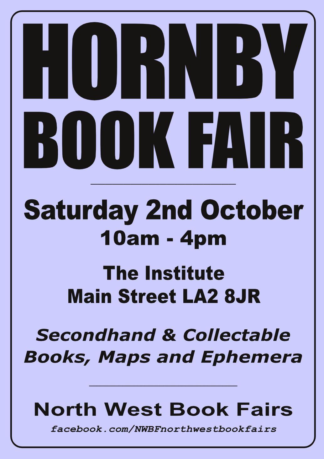 Hornby Book Fair | 2 October 2021 | Poster