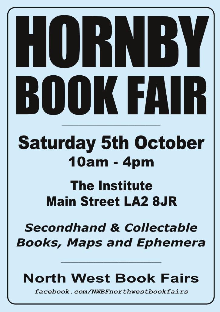 Hornby Book Fair | 5 October 2019 | Poster