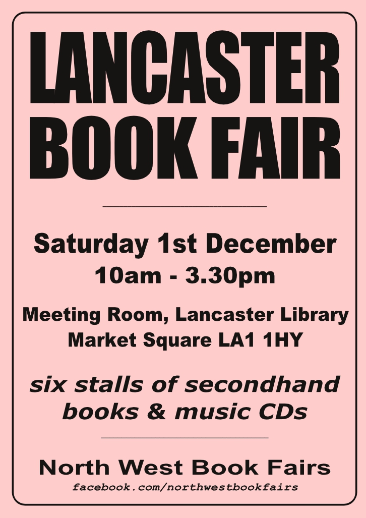 Lancaster Book Fair | 1 December 2018 | Poster