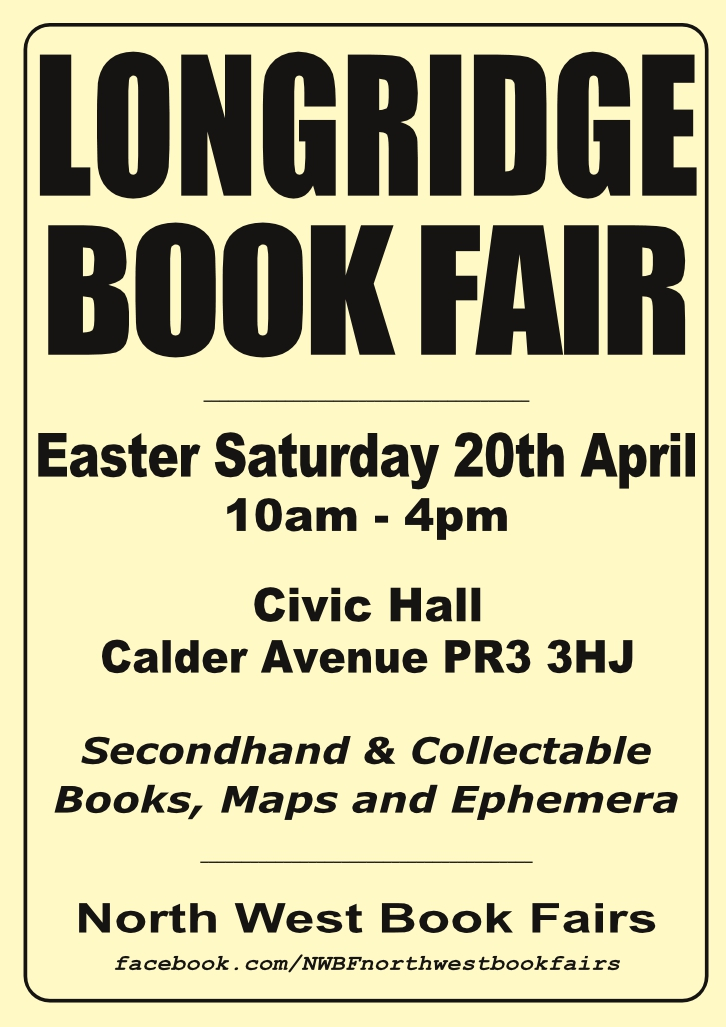 Longridge Book Fair | 20 April 2019 | Poster