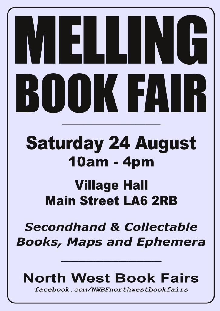 Melling Book Fair | 24 August 2019 | Poster