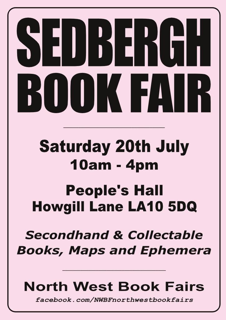 Sedbergh Book Fair | 20 July 2019 | Poster