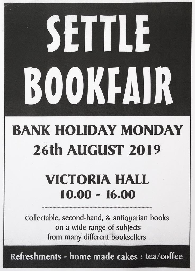 Settle Book Fair | 26 August 2019 | Poster