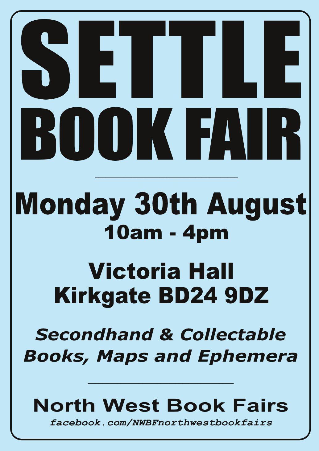 Settle Book Fair | 20 August 2021 | Poster